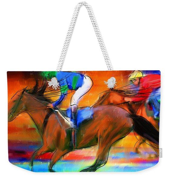 Horse Racing II Weekender Tote Bag