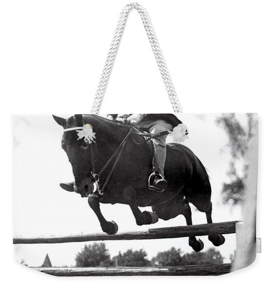 Horse Show Jump Weekender Tote Bag