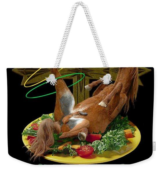 Horseflesh Weekender Tote Bag