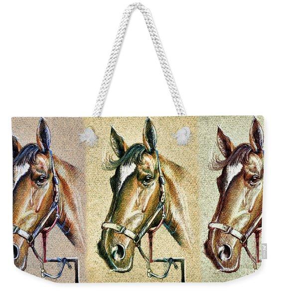 Horses Hand Drawing Weekender Tote Bag
