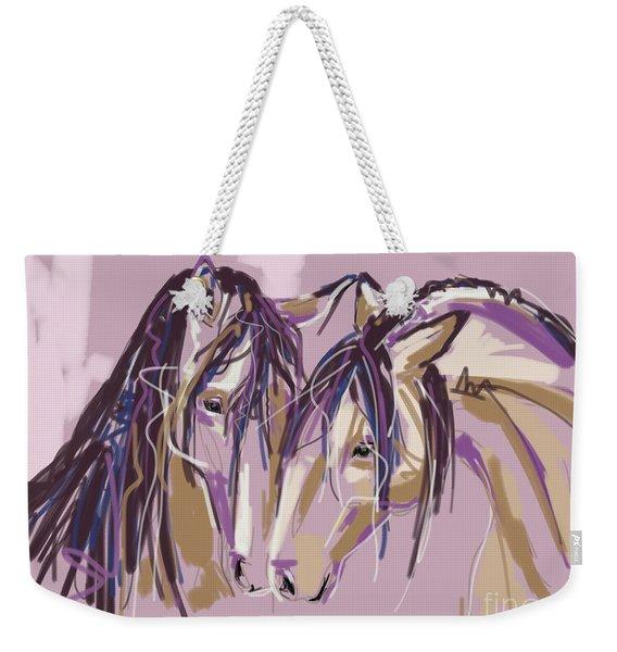 horses Purple pair Weekender Tote Bag