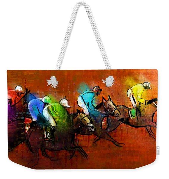 Horses Racing 01 Weekender Tote Bag