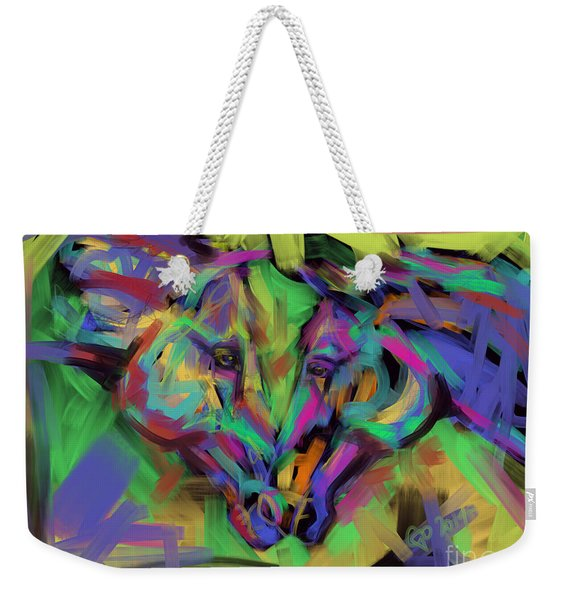 Horses Together In Colour Weekender Tote Bag