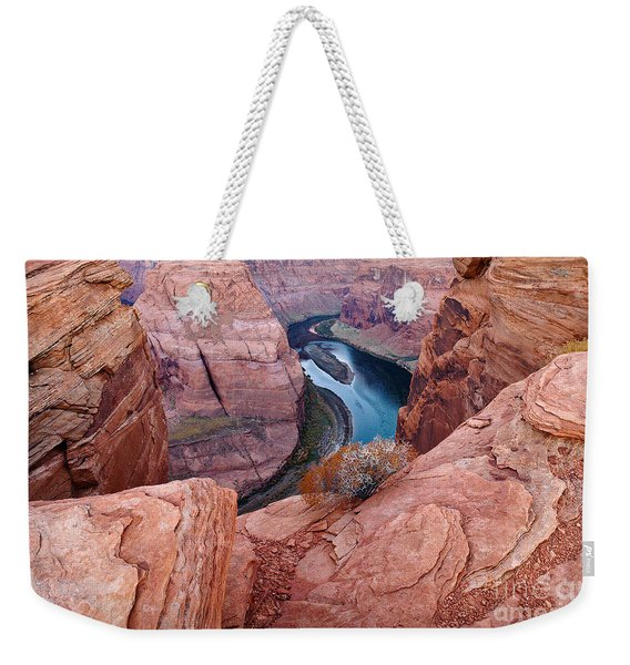 Weekender Tote Bag featuring the photograph Horseshoe Bend At Dawn by Mae Wertz