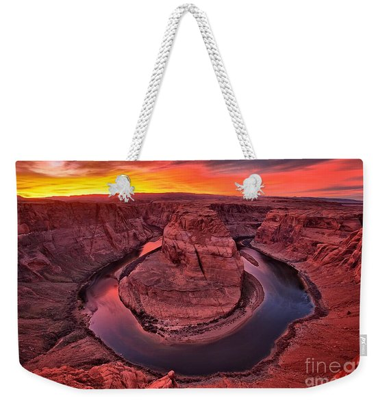 Horseshoe Bend Sunset Weekender Tote Bag