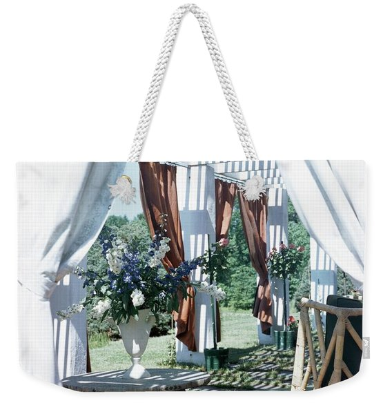 Horst's Patio In Long Island Weekender Tote Bag