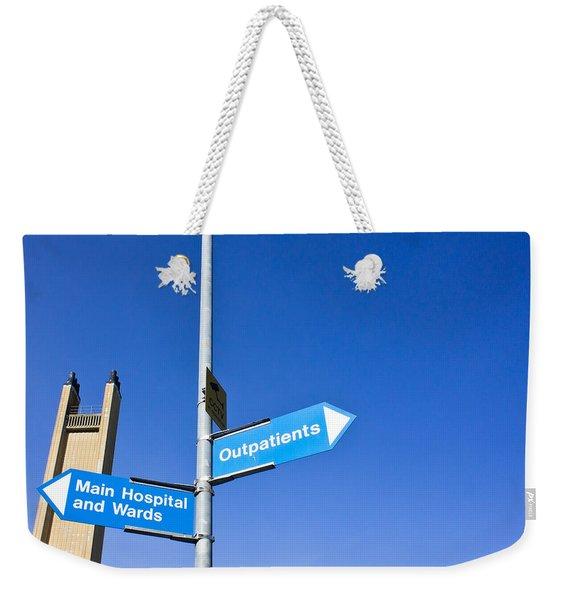 Hospital Signs Weekender Tote Bag