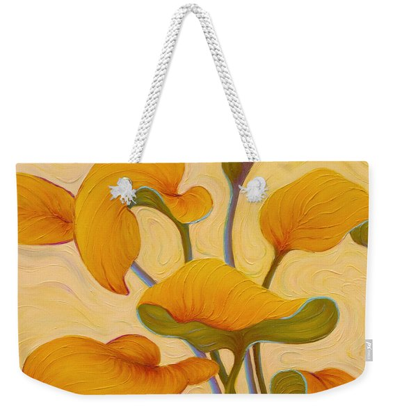Weekender Tote Bag featuring the painting Hosta Hoofin' by Sandi Whetzel