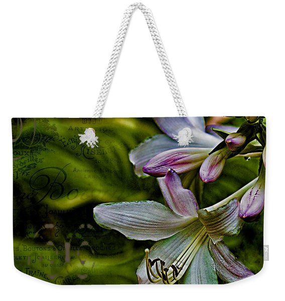 Hosta Lilies With Texture Weekender Tote Bag