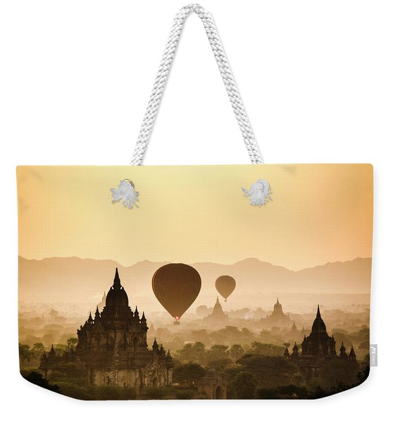 Hot Air Balloons Over The Temples Weekender Tote Bag