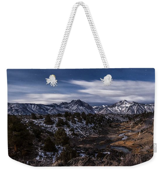 Hot Creek At Night Weekender Tote Bag