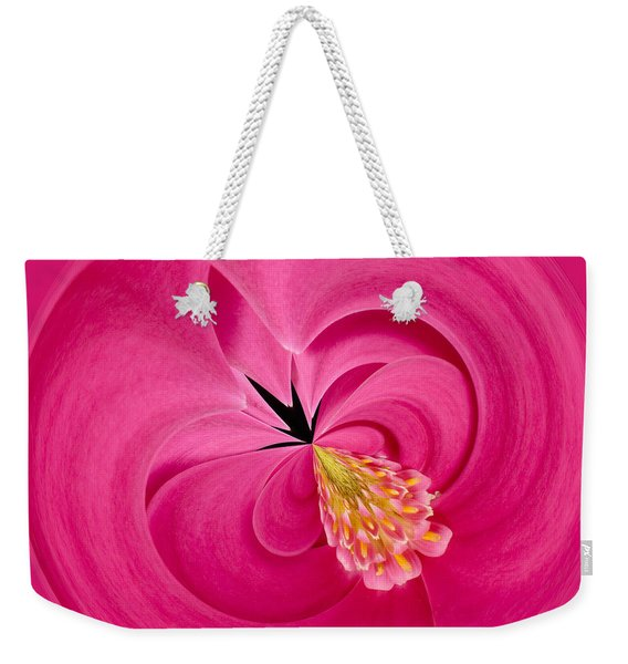 Hot Pink And Round Weekender Tote Bag