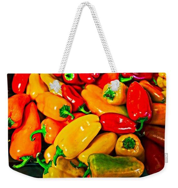 Hot Red Peppers Weekender Tote Bag