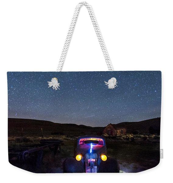 Hot Rod Nights Weekender Tote Bag