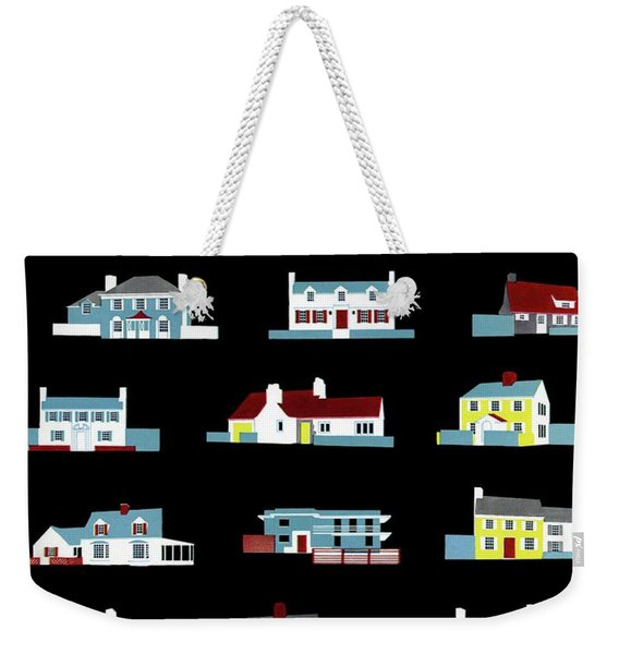 House & Garden Cover Illustration Of 18 Houses Weekender Tote Bag
