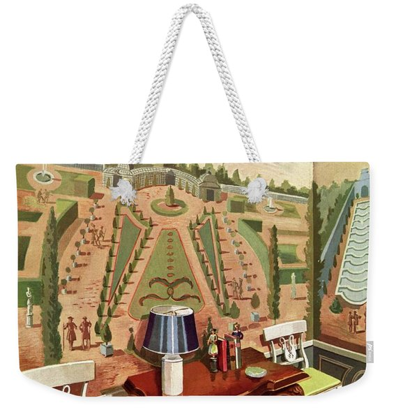 House & Garden Cover Illustration Of 18th Century Weekender Tote Bag