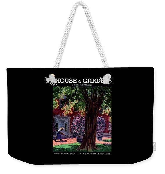 House & Garden Cover Illustration Of A Gardener Weekender Tote Bag