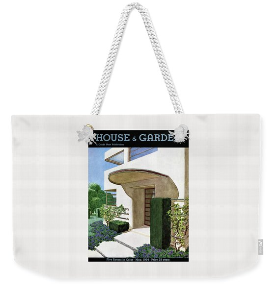 House & Garden Cover Illustration Of A Modern Weekender Tote Bag
