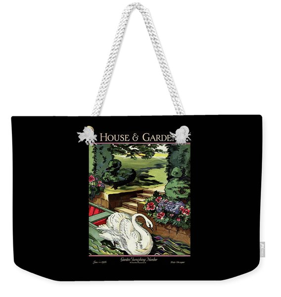 House & Garden Cover Illustration Of A Swan Weekender Tote Bag