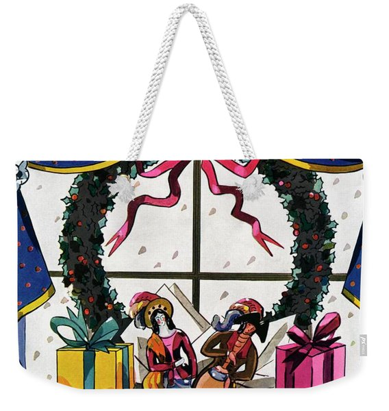 House & Garden Cover Illustration Of Christmas Weekender Tote Bag