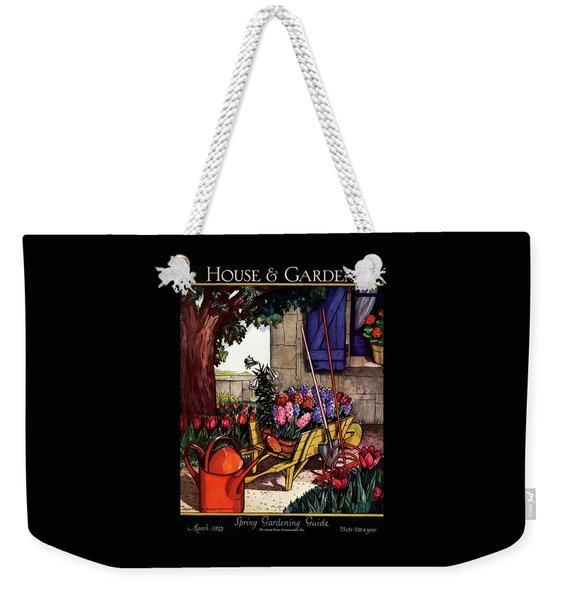 House & Garden Cover Illustration Of Garden Scene Weekender Tote Bag