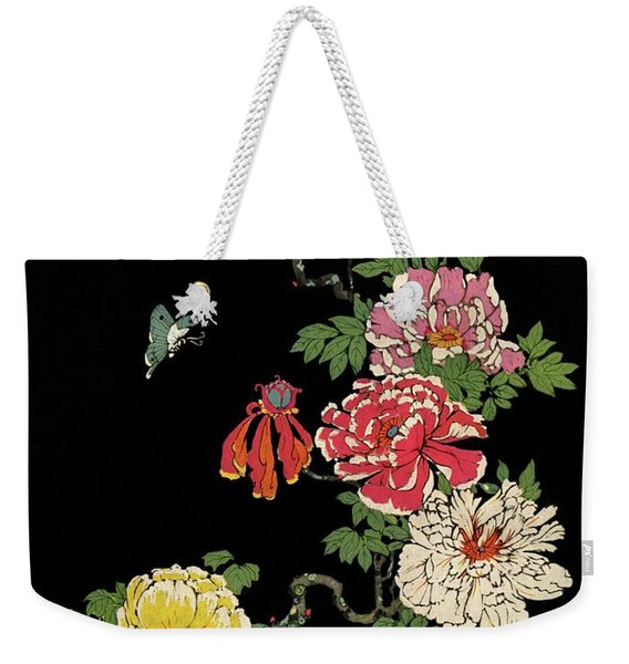 House & Garden Cover Illustration Of Peonies Weekender Tote Bag