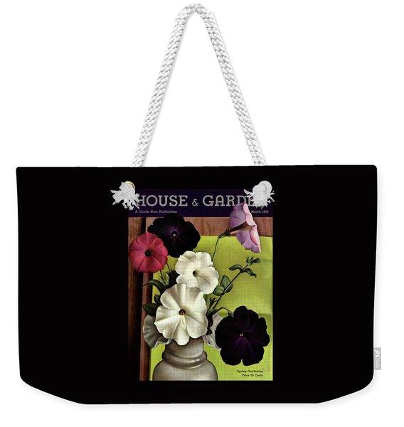 House & Garden Cover Illustration Of Petunias Weekender Tote Bag