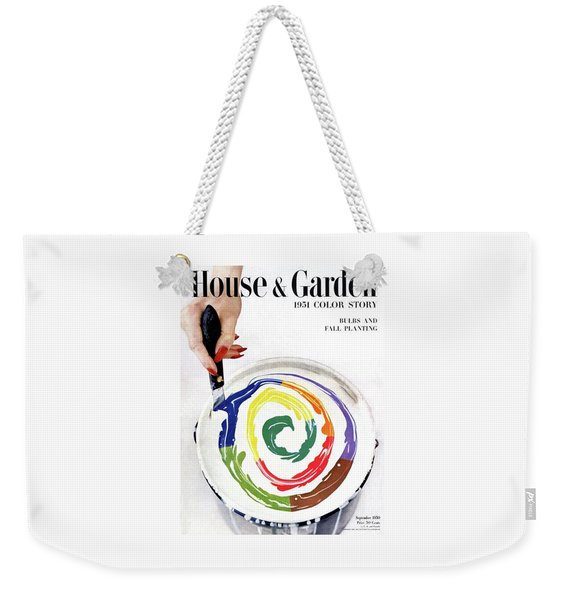 House & Garden Cover Of A Woman's Hand Stirring Weekender Tote Bag