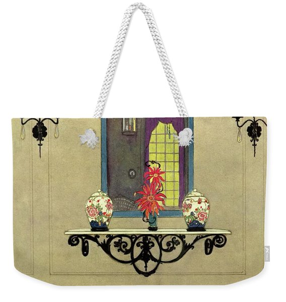 House And Garden Autumn Decorating Number Cover Weekender Tote Bag