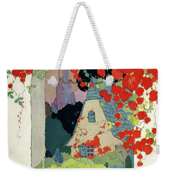 House And Garden Autumn Decorating Number Weekender Tote Bag