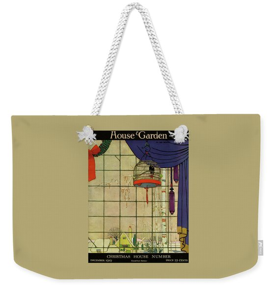 House And Garden Christmas House Number Cover Weekender Tote Bag