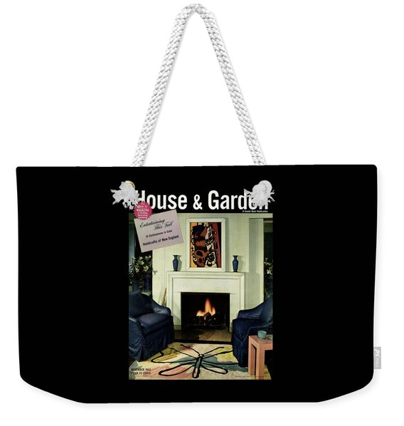 House And Garden Cover Featuring A Living Room Weekender Tote Bag