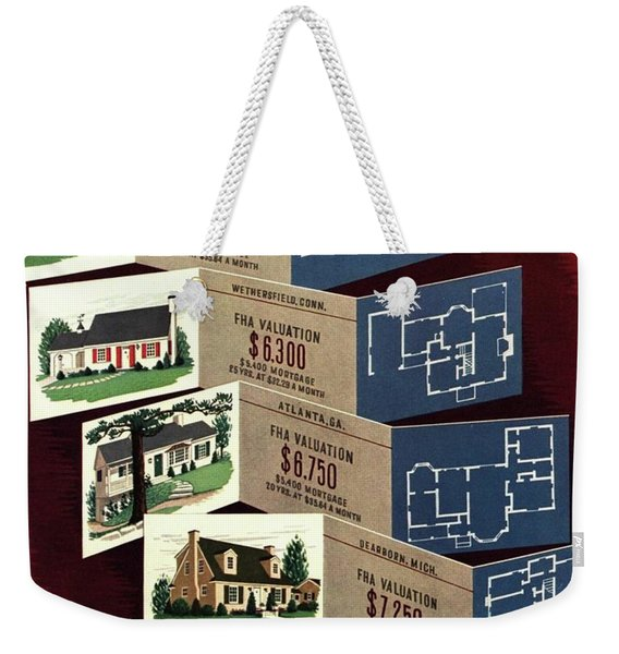 House And Garden Cover Featuring Houses Weekender Tote Bag