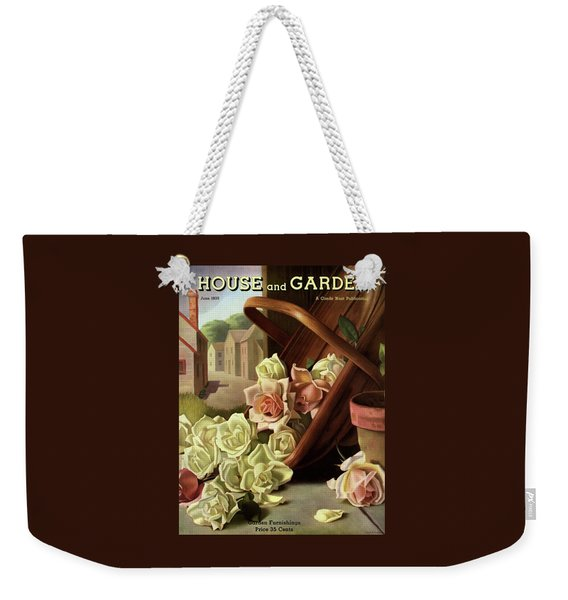 House And Garden Cover Of An Upturned Basket Weekender Tote Bag