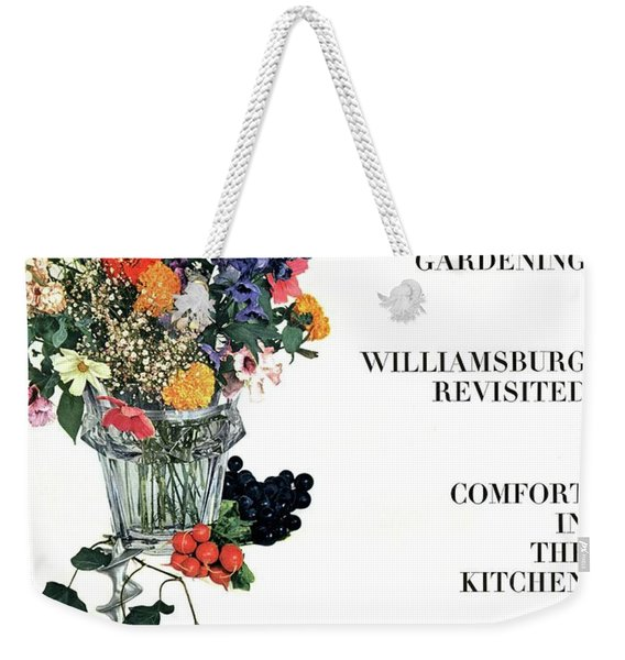 House And Garden Guide To Good Gardening Cover Weekender Tote Bag