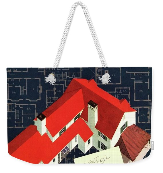 House And Garden Houses With Plans Cover Weekender Tote Bag
