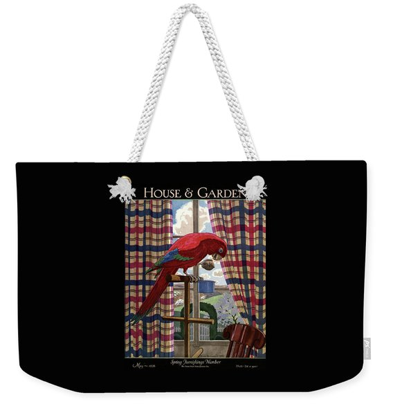 House And Garden Spring Furnishing Number Cover Weekender Tote Bag