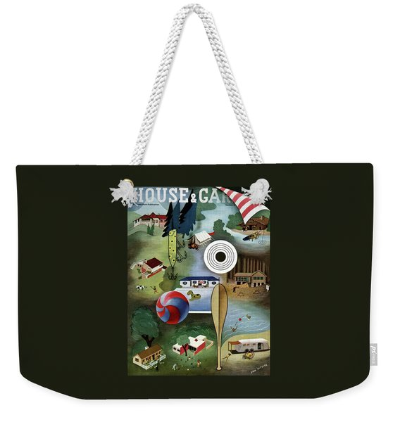 House And Garden Summer Camps And Cottages Cover Weekender Tote Bag