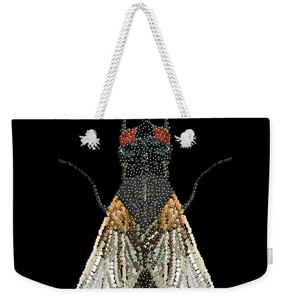 House Fly Bedazzled Weekender Tote Bag