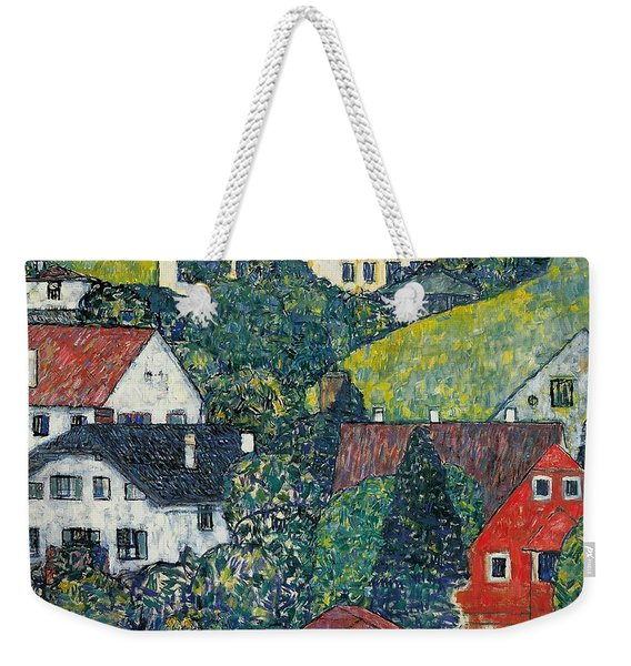 Houses At Unterach On The Attersee Weekender Tote Bag