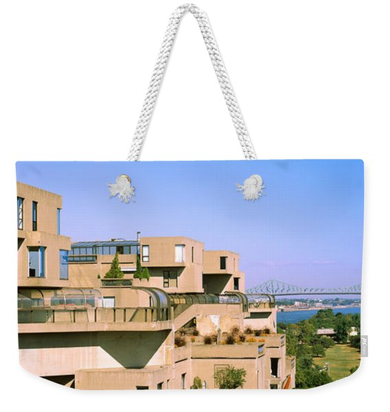 Housing Complex With A Bridge Weekender Tote Bag