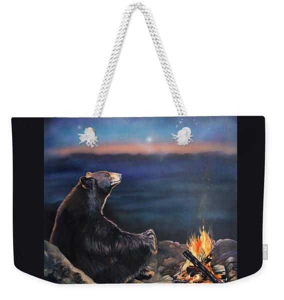 How Grandfather Bear Created The Stars Weekender Tote Bag