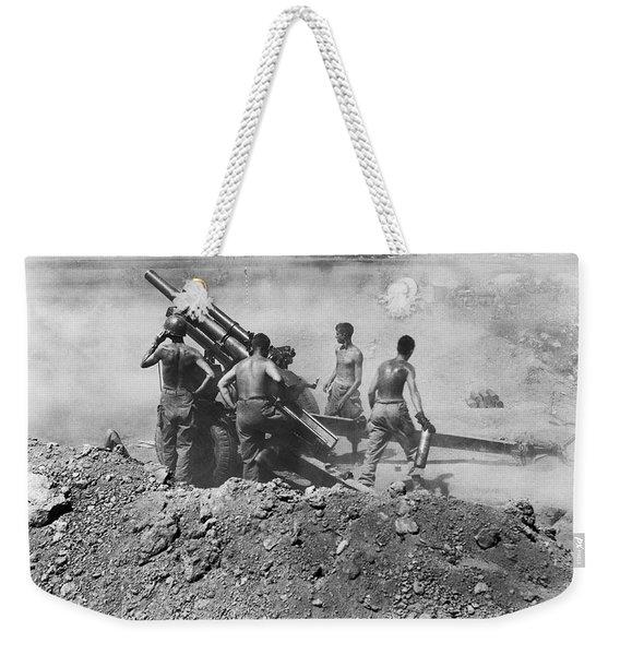 Howitzer Shelling In Korea Weekender Tote Bag