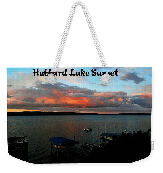 Hubbard Lake Weekender Tote Bag