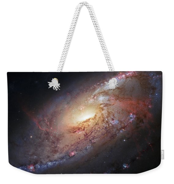 Hubble View Of M 106 Weekender Tote Bag