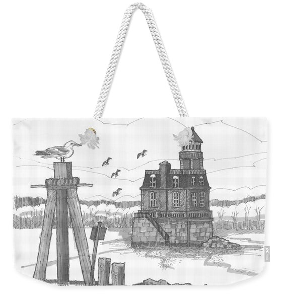 Hudson-athens Lighthouse Weekender Tote Bag