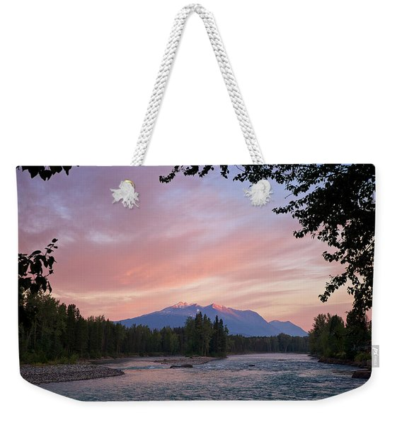 Weekender Tote Bag featuring the photograph Hudson Bay Mountain British Columbia by Mary Lee Dereske