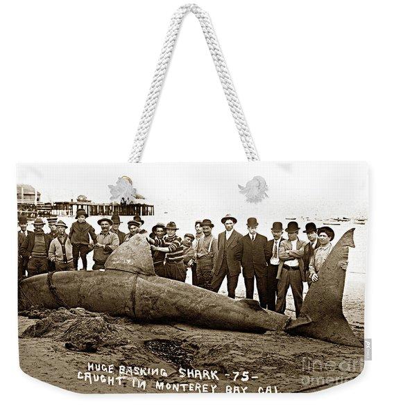 Huge Basking Shark Near Fishermans Wharf Monterey California Circa 1912 Weekender Tote Bag