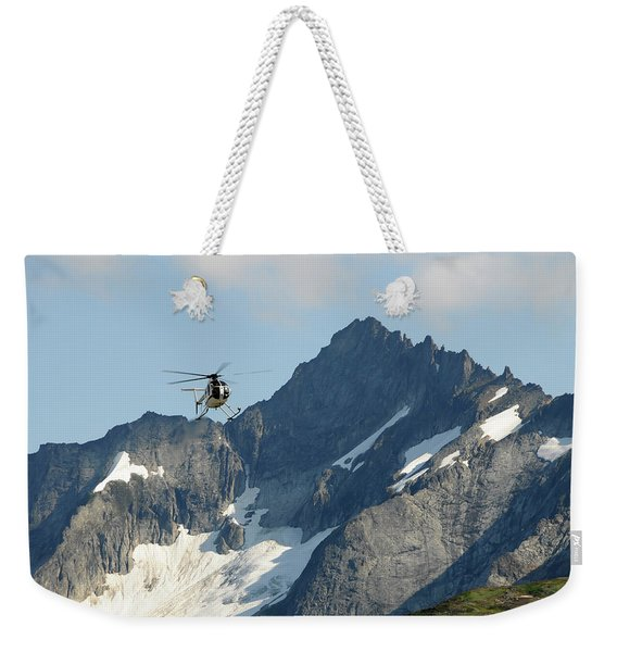 Hughes 500 Rescue Helicopter In North Weekender Tote Bag