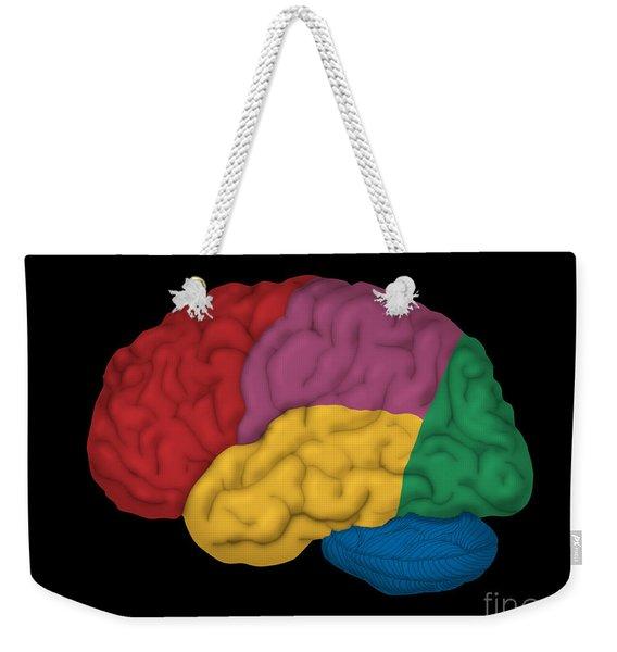Human Brain, Lateral View Weekender Tote Bag